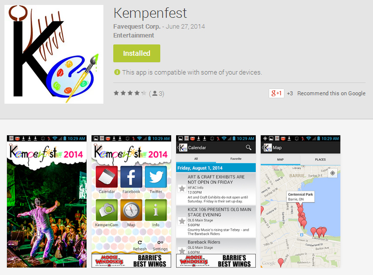 Kempenfest App (Android)